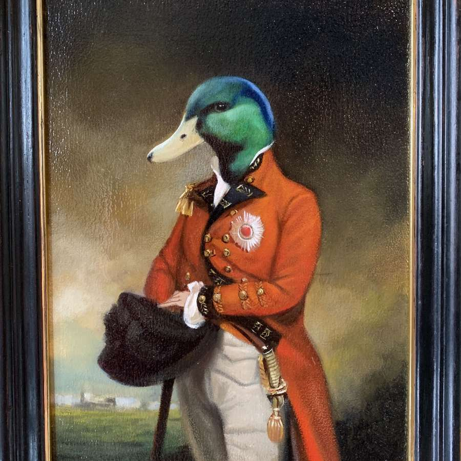 Anthropomorphic Oil Painting titled 'Sir Archibald Drake'