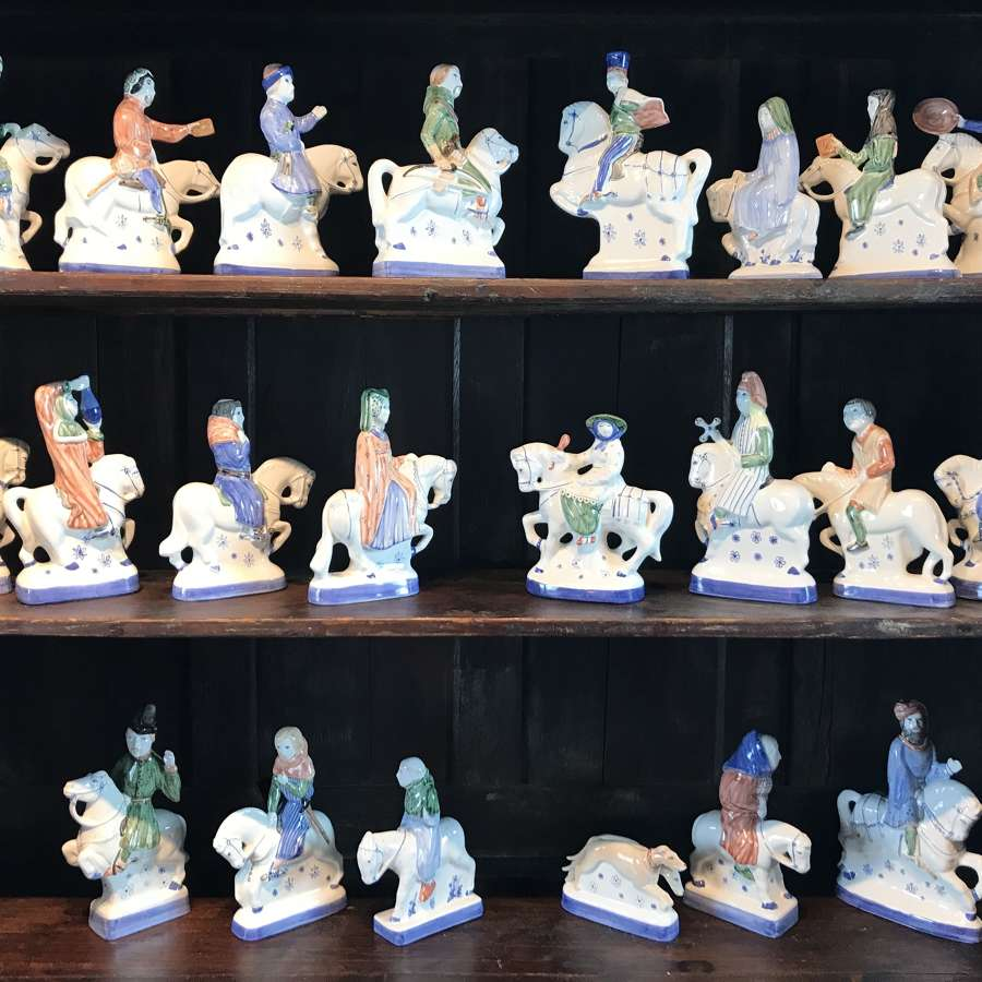 Rye Pottery Figures, The Pilgrim's Progress from The Canterbury Tales