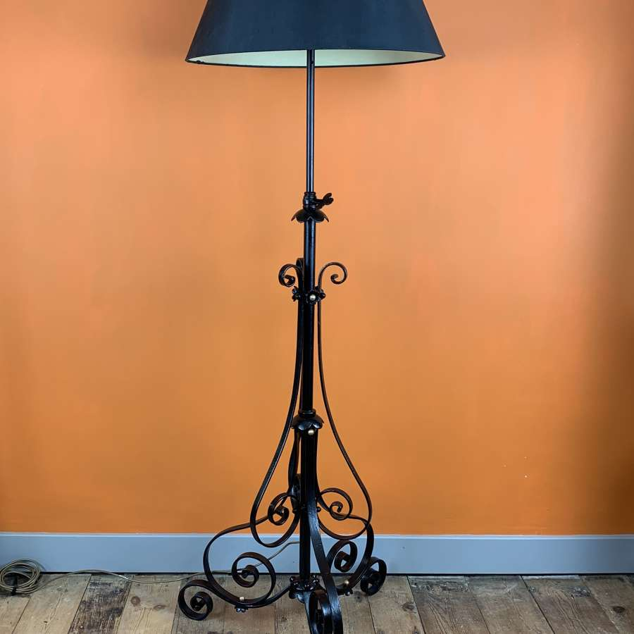 Antique Wrought Iron Standard Lamp