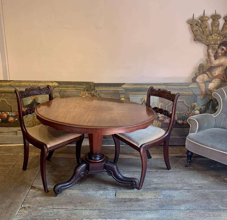Victorian Mahogany Circular Breakfast / Dining Table