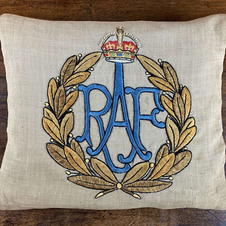 RAF Hand Embroidered Cushion