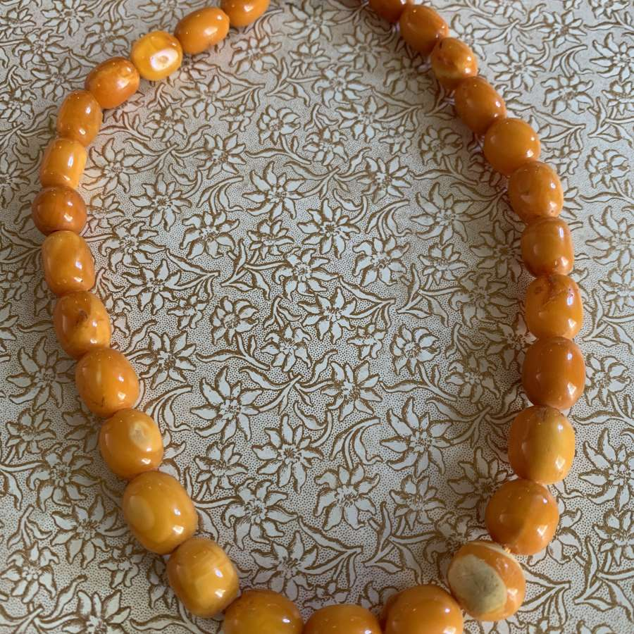 Baltic Butterscotch Amber Bead Necklace