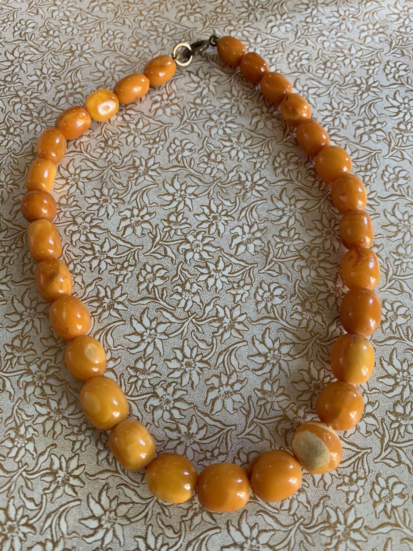 Baltic Butterscotch Amber Bead Necklace