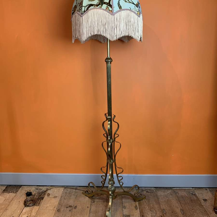 Arts & Crafts Telescopic Brass Standard Lamp