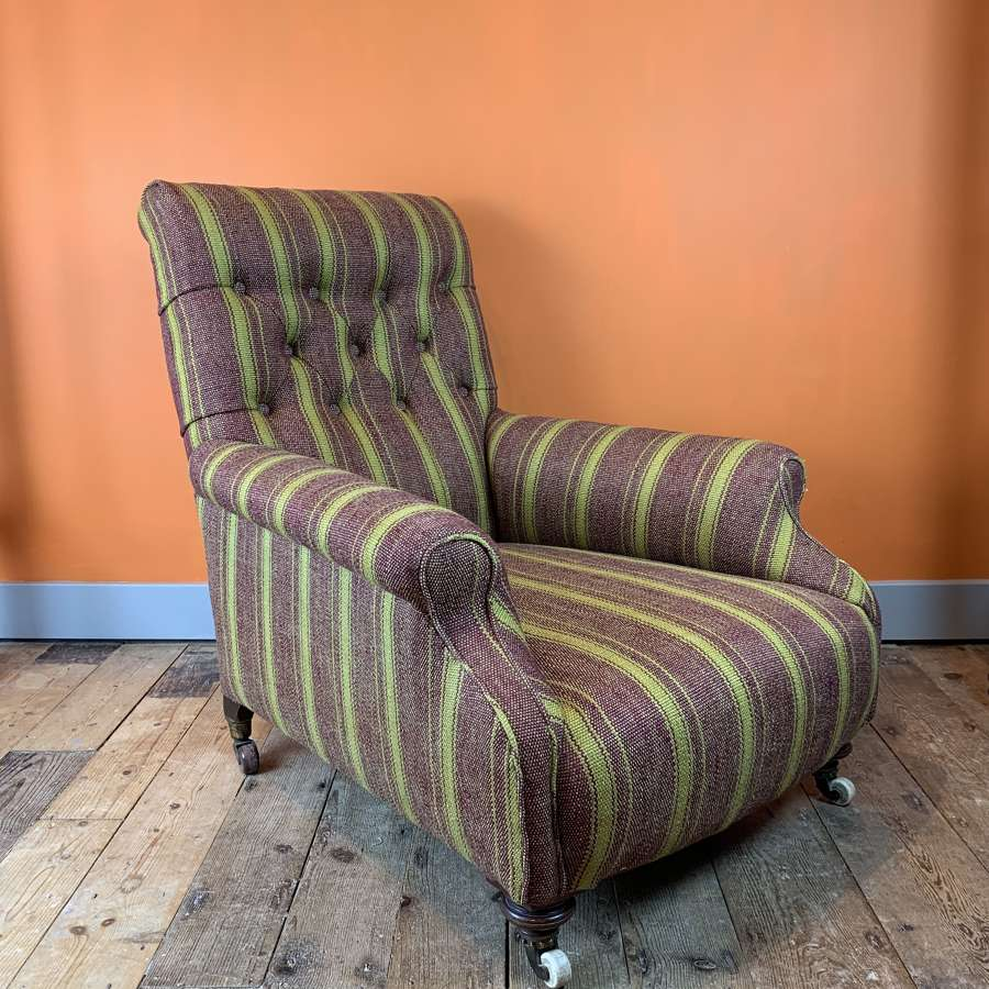 Victorian Howard Armchair by Cornelius V Smith