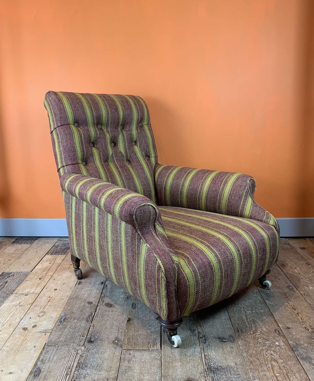 Victorian Howard Armchair by Cornelius V Smith