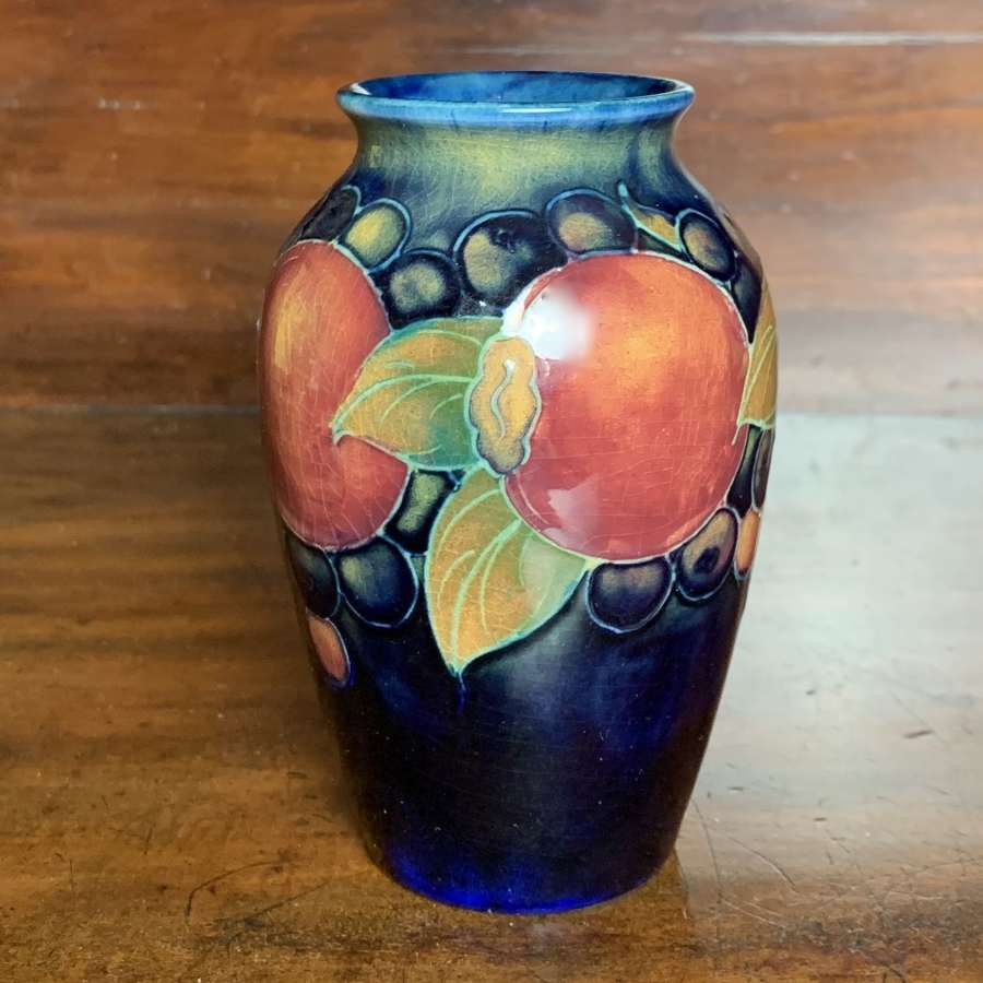 William Moorcroft Miniature Vase in Pomegranate Pattern, circa 1930