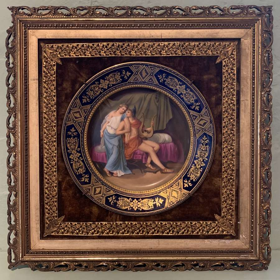 Royal Vienna Hand Painted Cabinet Plate of Paris & Helena