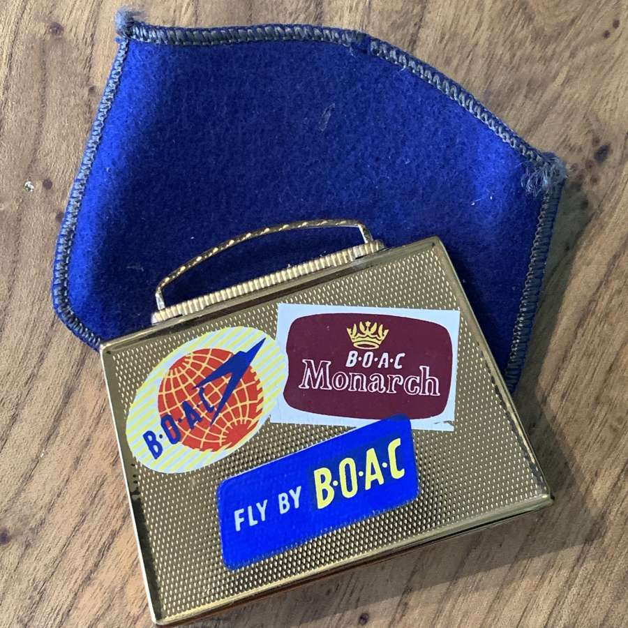 Vintage 1950's ASB Mascot Compact for BOAC Airlines