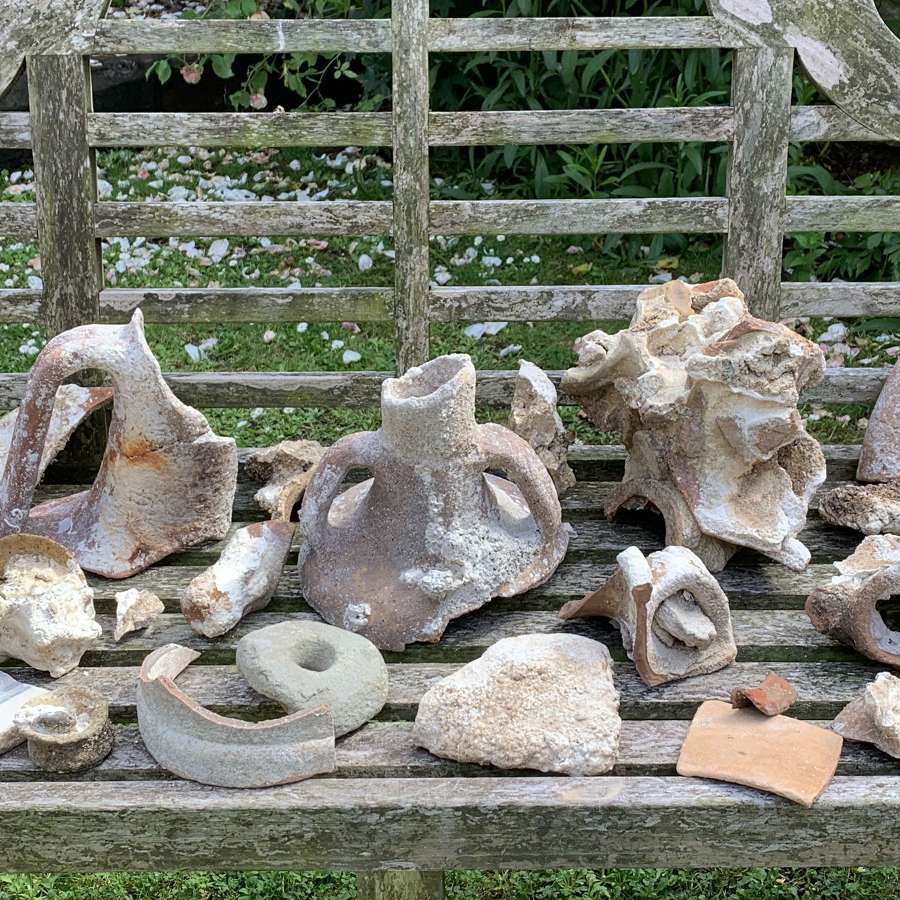 Large Collection of Ancient Shipwreck Pottery