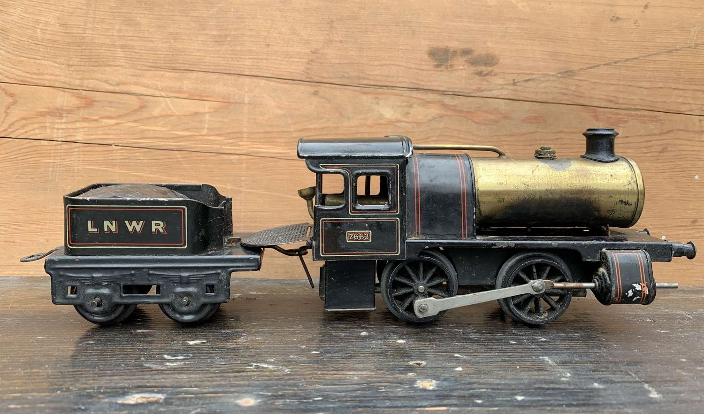 Bing O Gauge Live Steam Spirit Fired LNWR Locomotive & Tender