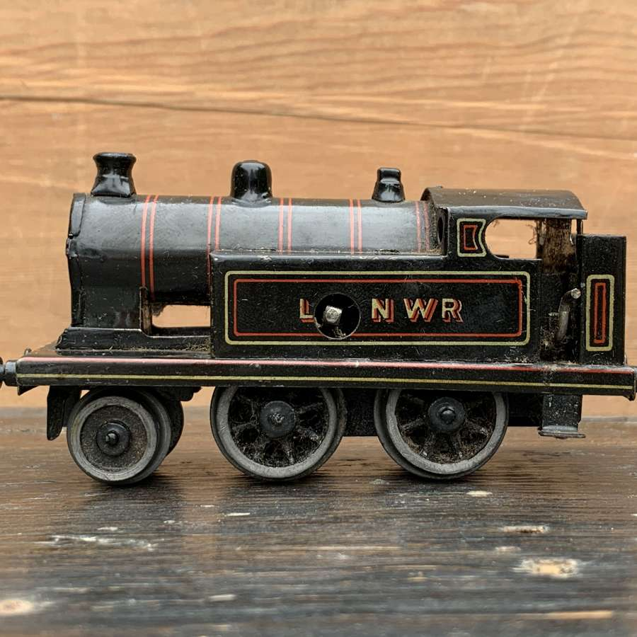 Bing LNWR 00 Gauge Tinplate Clockwork Tank Locomotive