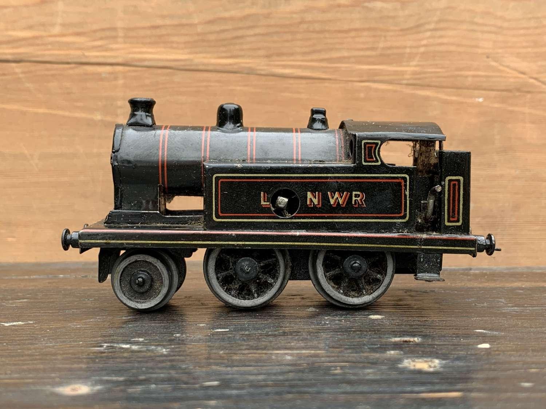 Bing LNWR 00 Gauge Tinplate Clockwork Tank Locomotive