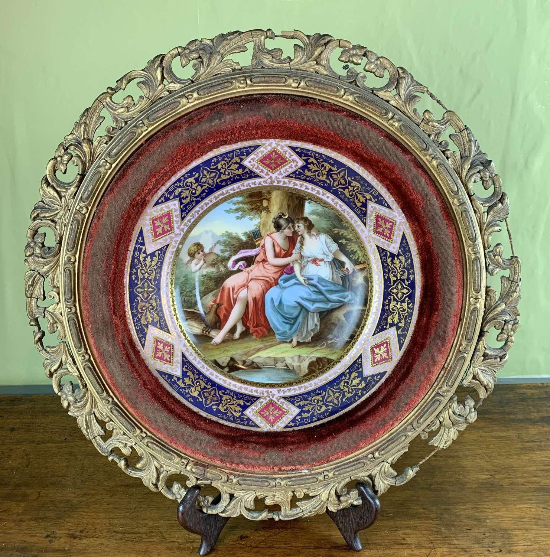 Vienna Porcelain Cabinet Plate titled 'Jupiter & Calisto'