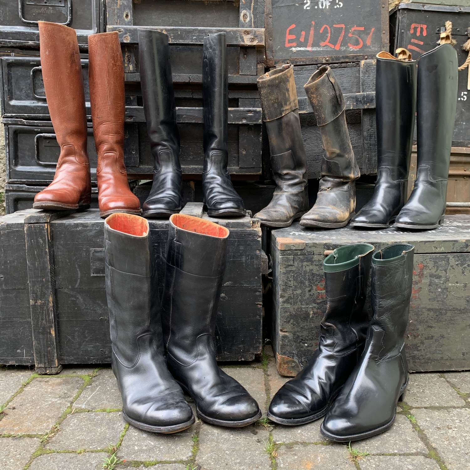 Collection of Gentleman's Leather Riding Boots