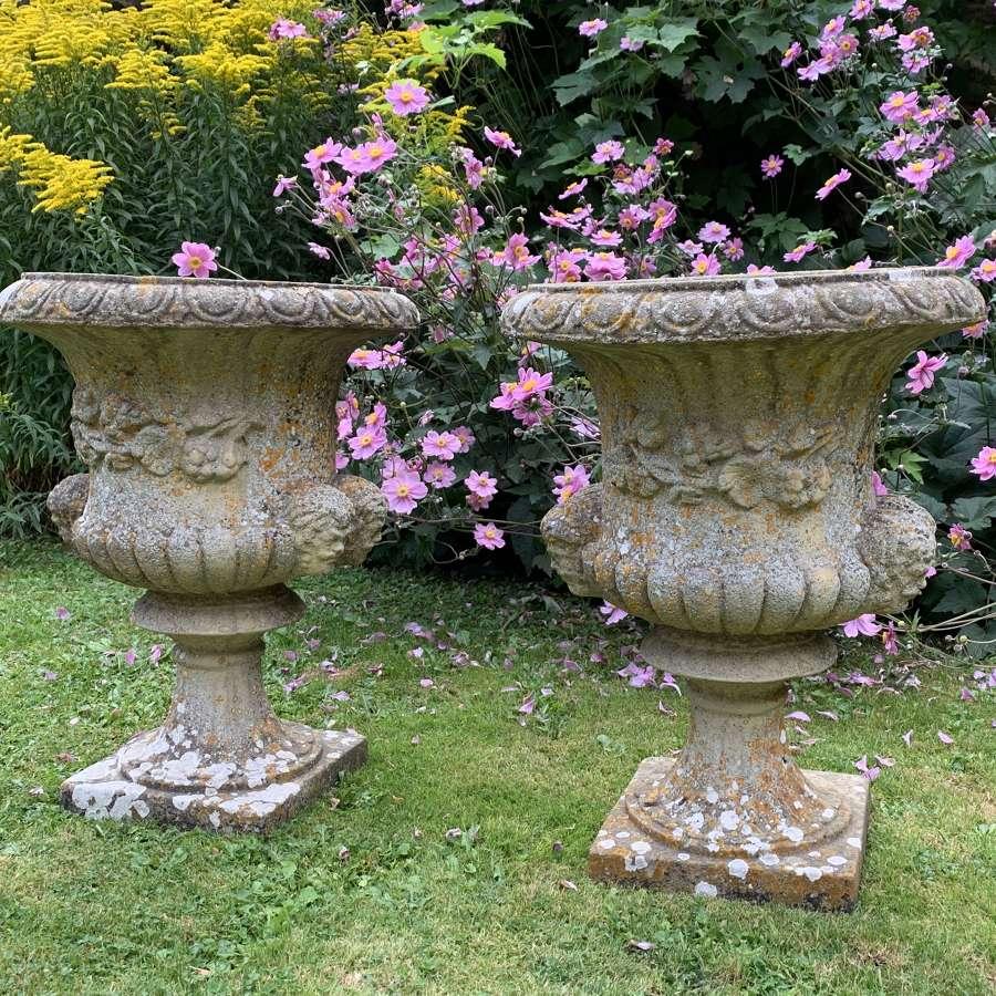 Pair of Vintage Garden Urns