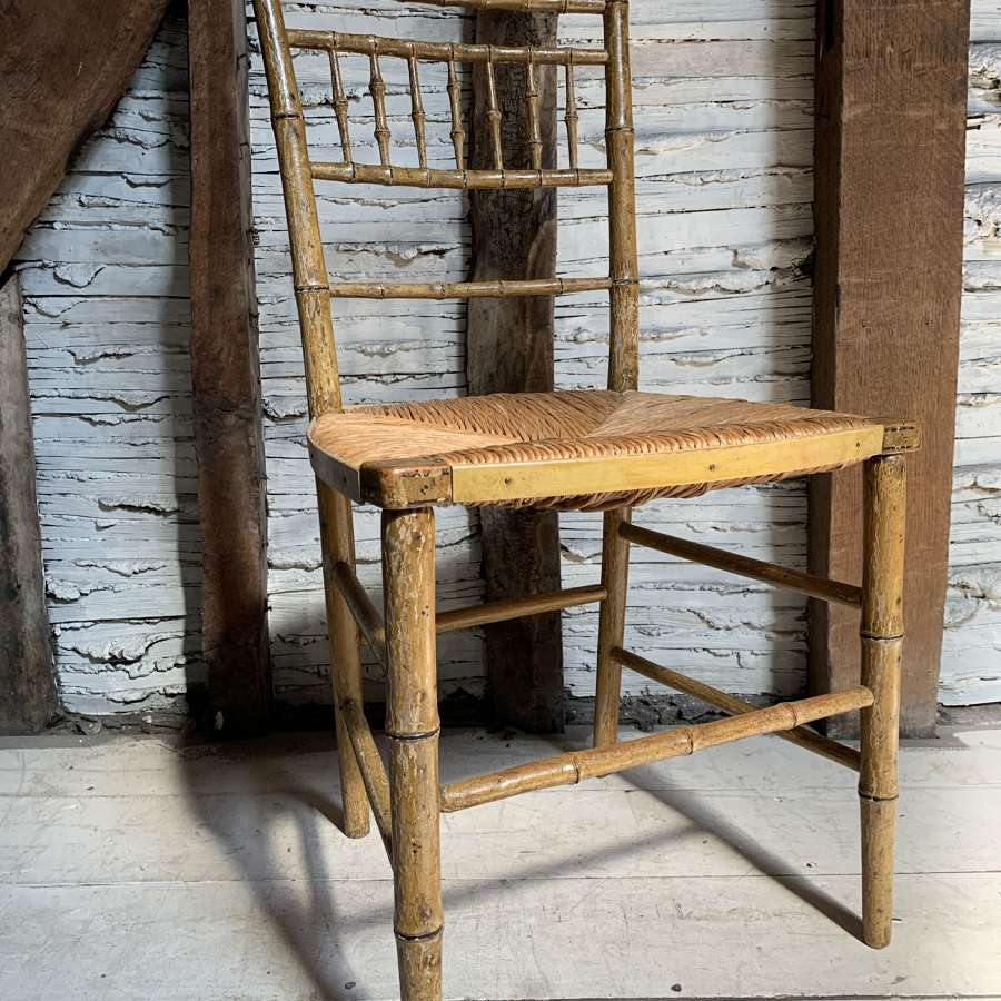 Regency Painted Faux Bamboo Chair