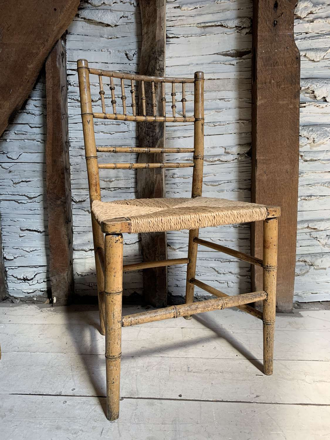 Regency Faux Bamboo Painted Chair