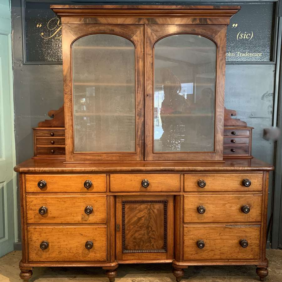 Victorian Mahogany Housekeepers Cabinet / Kitchen Dresser