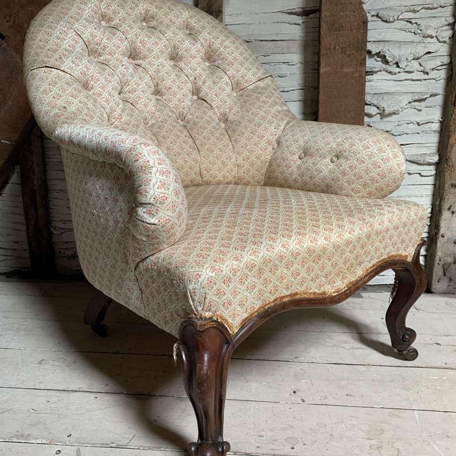 Antique Victorian Armchair of Generous Proportions