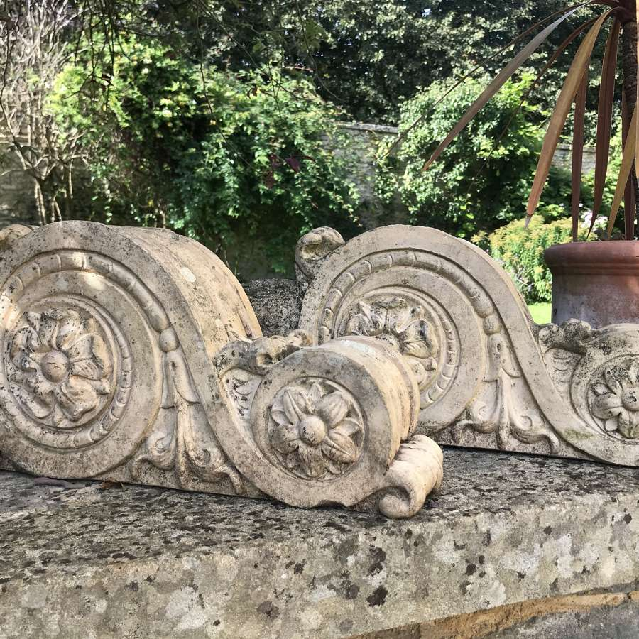 Pair of Antique Stoneware Architectural Corbels