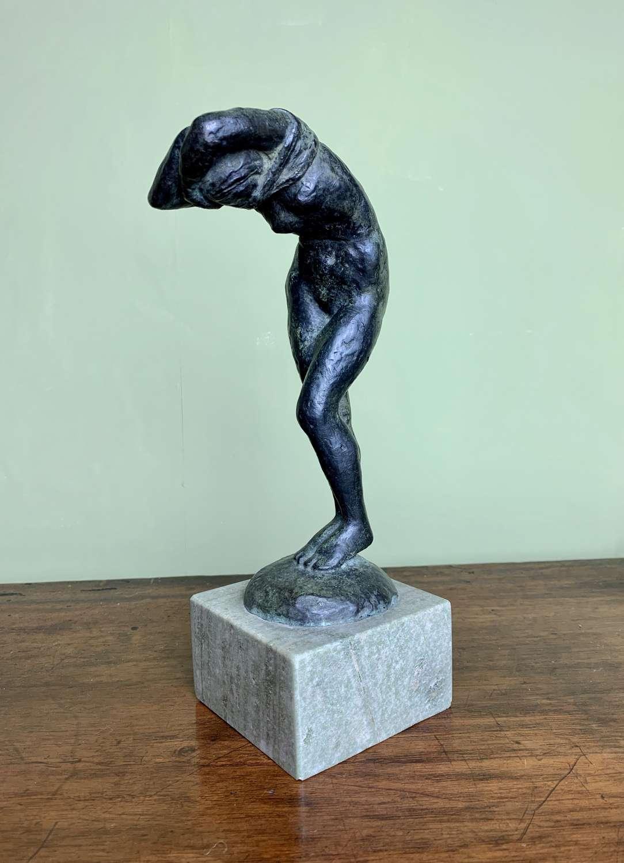 Jaap Hartman Bronze Figure of a Nude Girl