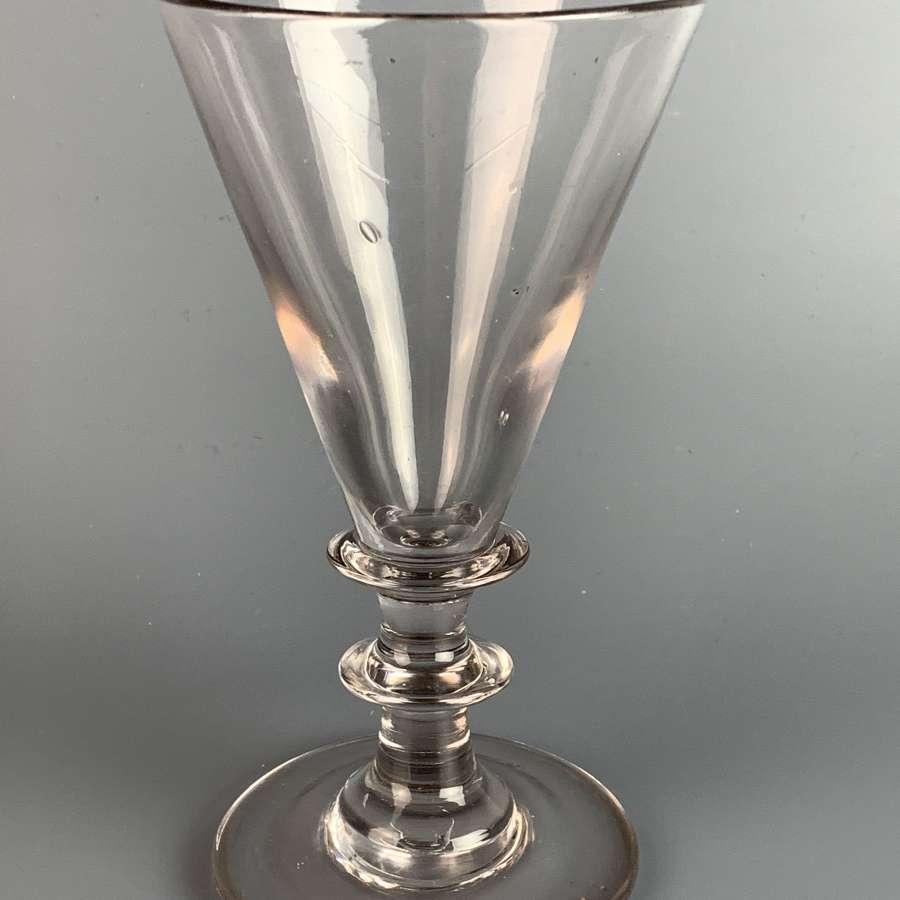 Huge Georgian Wine Glass Circa 1760