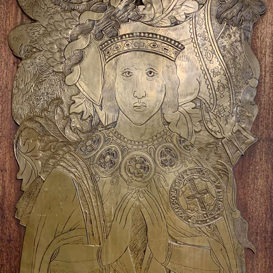 Life Size Brass Rubbing Plaque of Sir Thomas Bullen