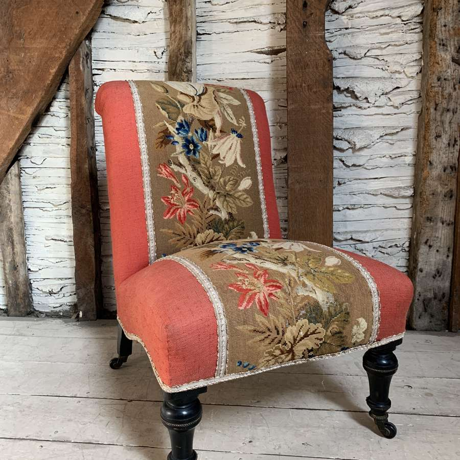 Victorian Tapestry Upholstered Occasional Chair