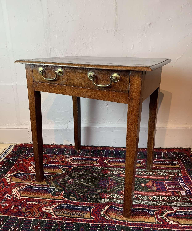 Georgian Oak Side Table