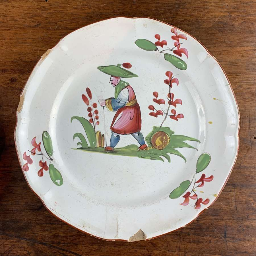 19th Century French Faience Plate