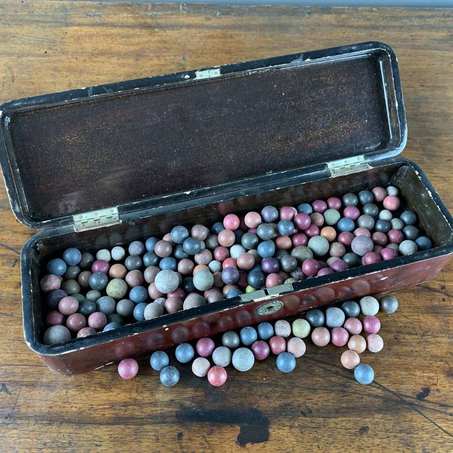 A Quantity of Victorian Pottery Marbles