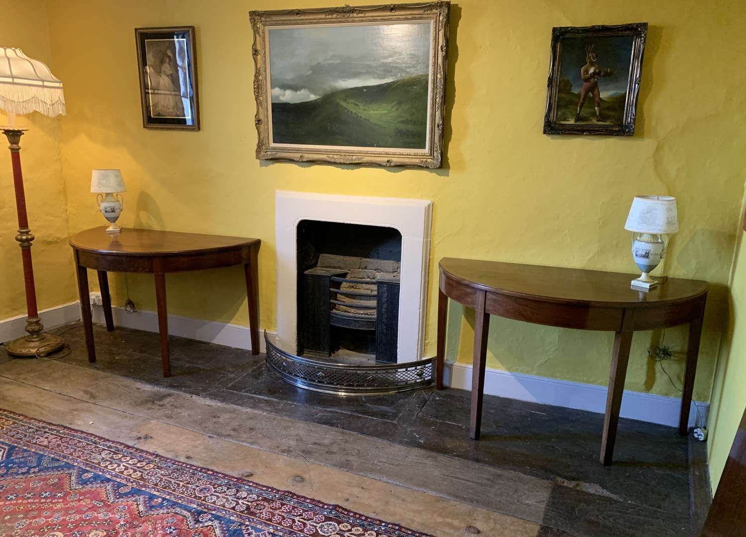 Pair of Georgian Mahogany Console Tables / Dining Table