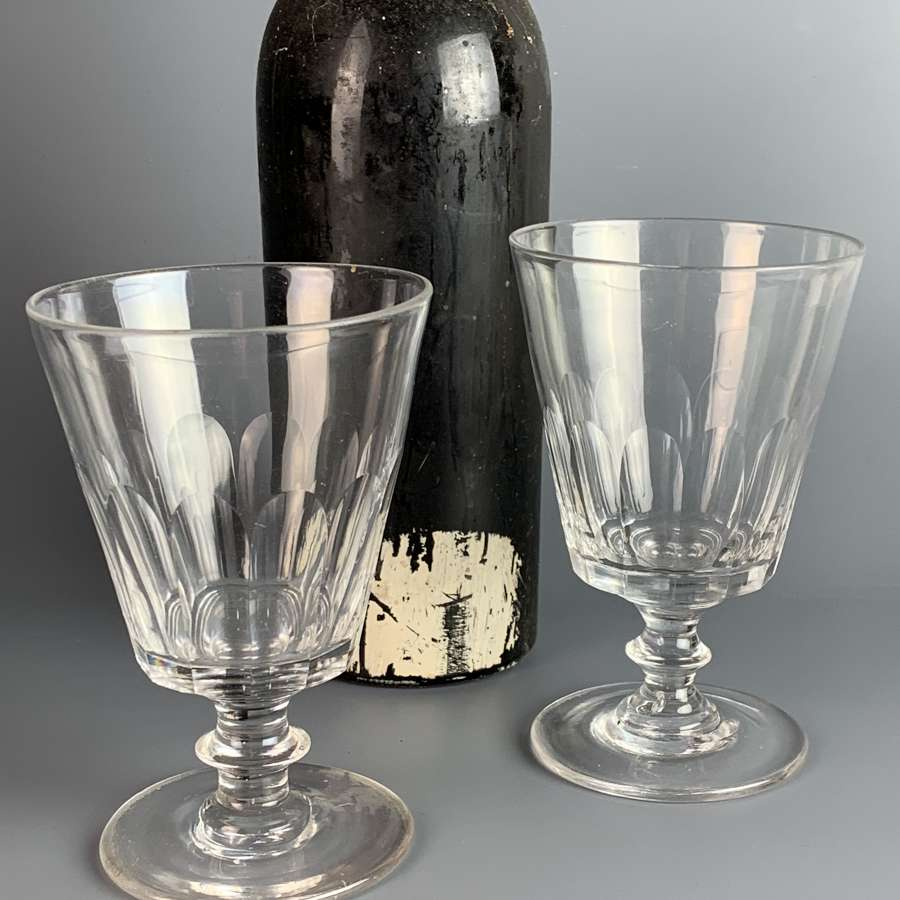 A Pair of Regency Cut Glass Rummers