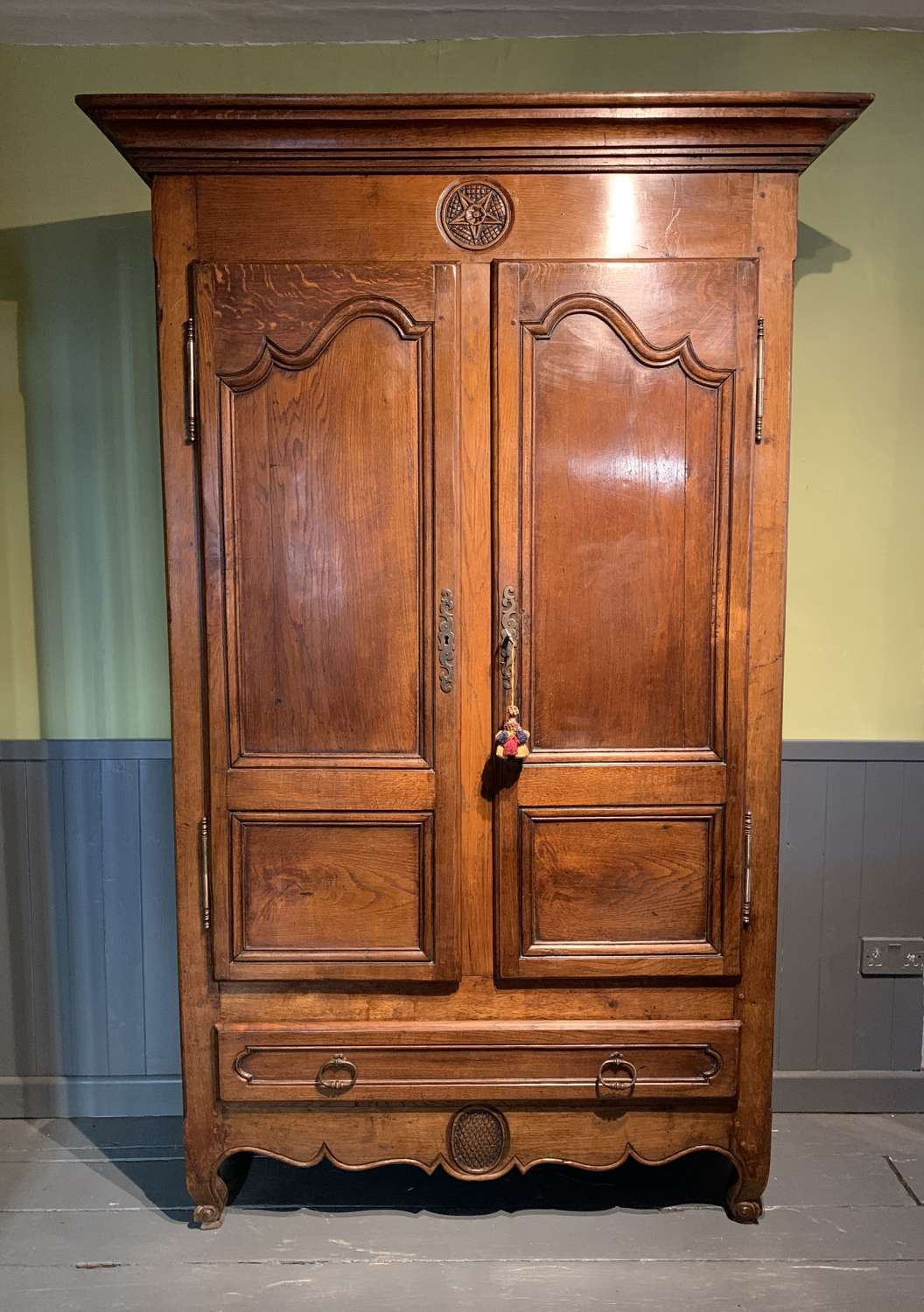 19th Century French Oak Armoire