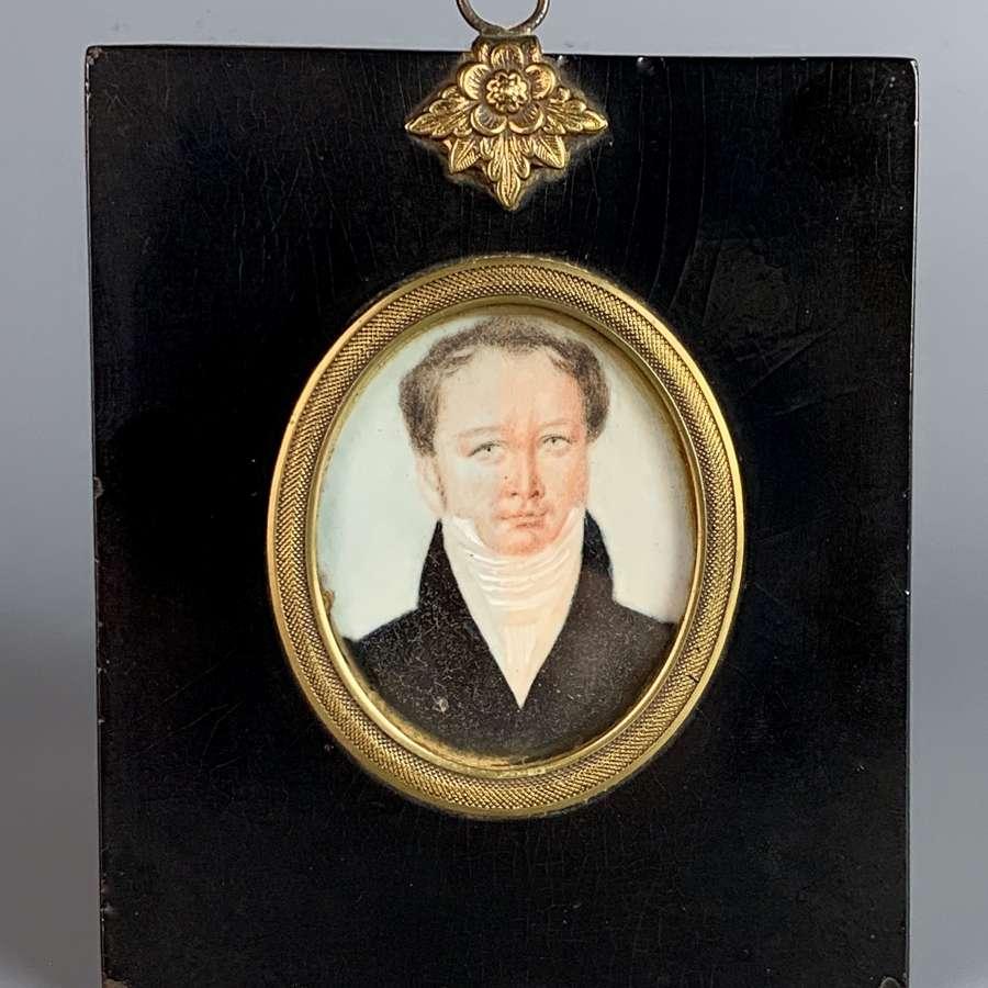 Regency Portrait Miniature of a Gentleman