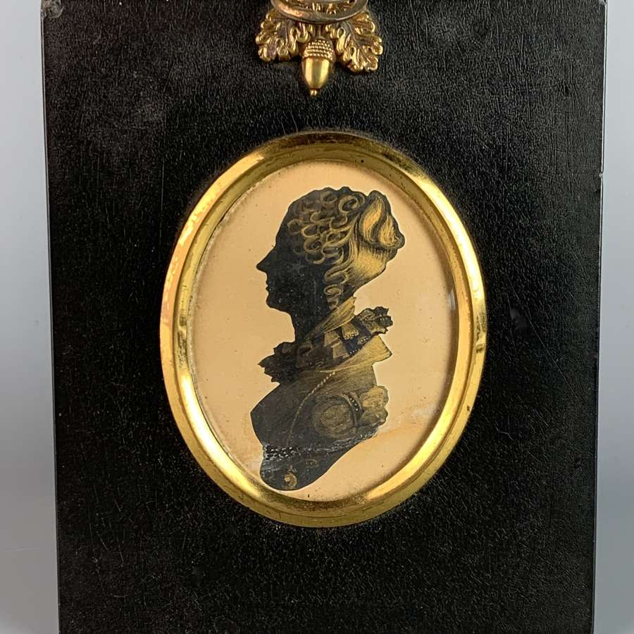 Regency Cut Paper Silhouette with Bronze Highlights