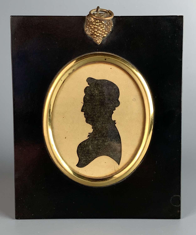 Regency Reverse Cut Paper Silhouette of a Lady