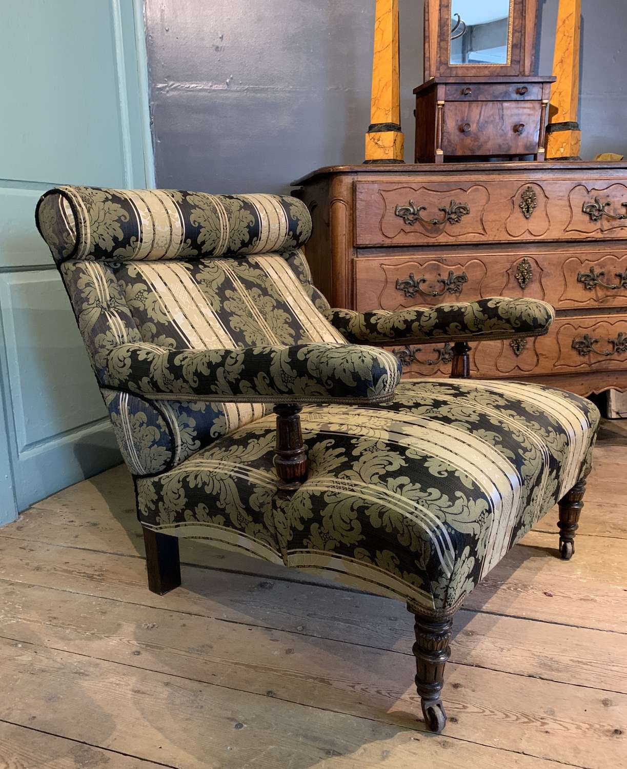 Victorian Drawing Room Armchair of Generous Proportions