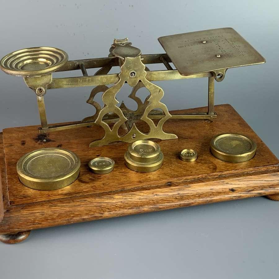 Victorian Brass Postal Scales & Weights