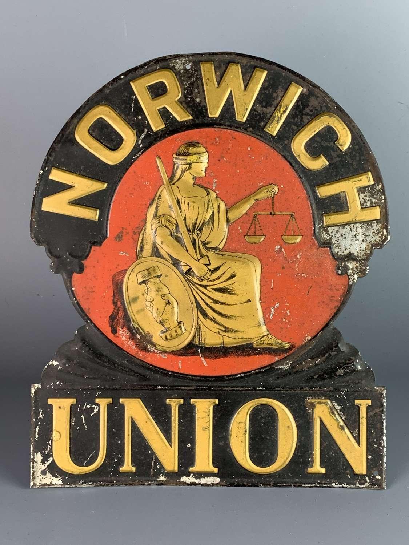Victorian Norwich Union Agents Sign / Fire Plaque