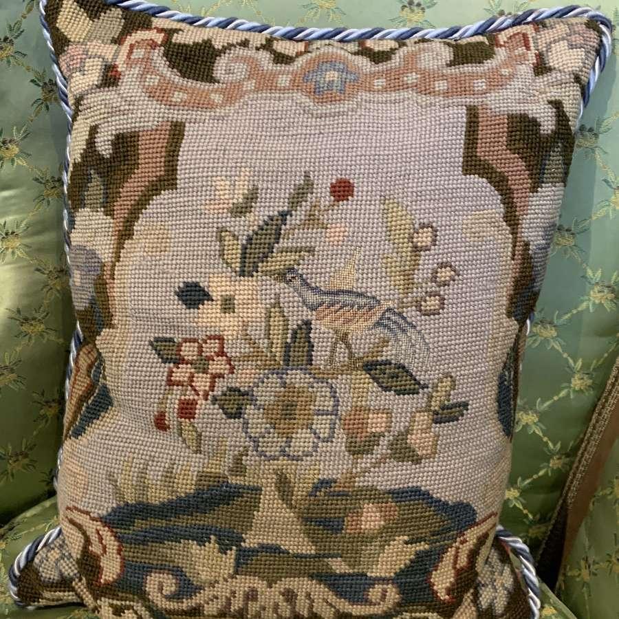 Antique Needlework Cushion