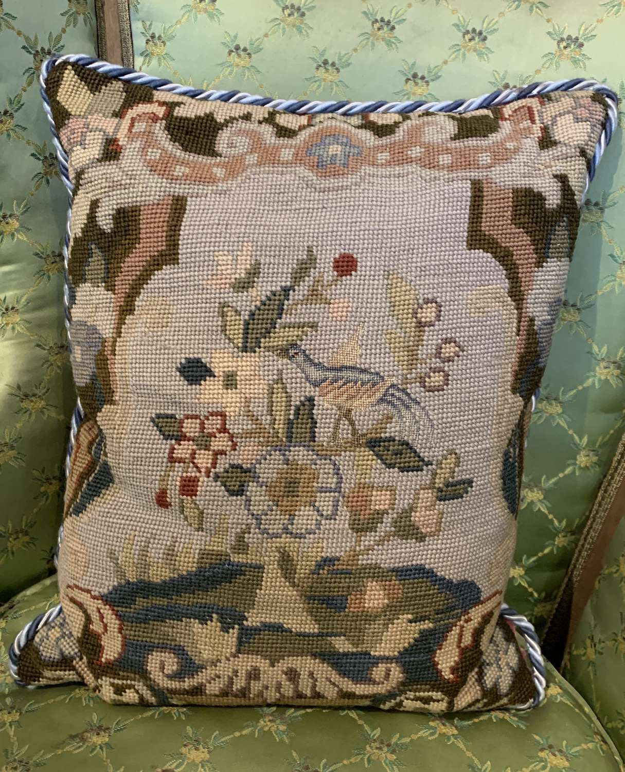 Antique Needlework Cushion