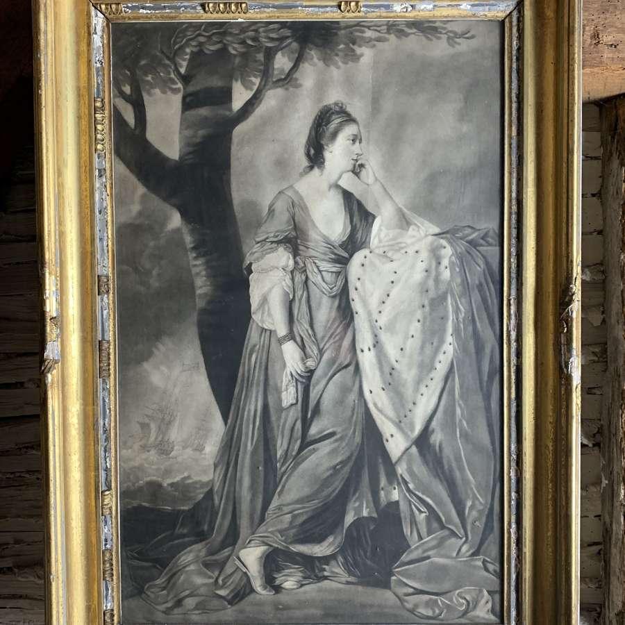 Mary Duchess of Ancaster Mezzotint after Joshua Reynolds