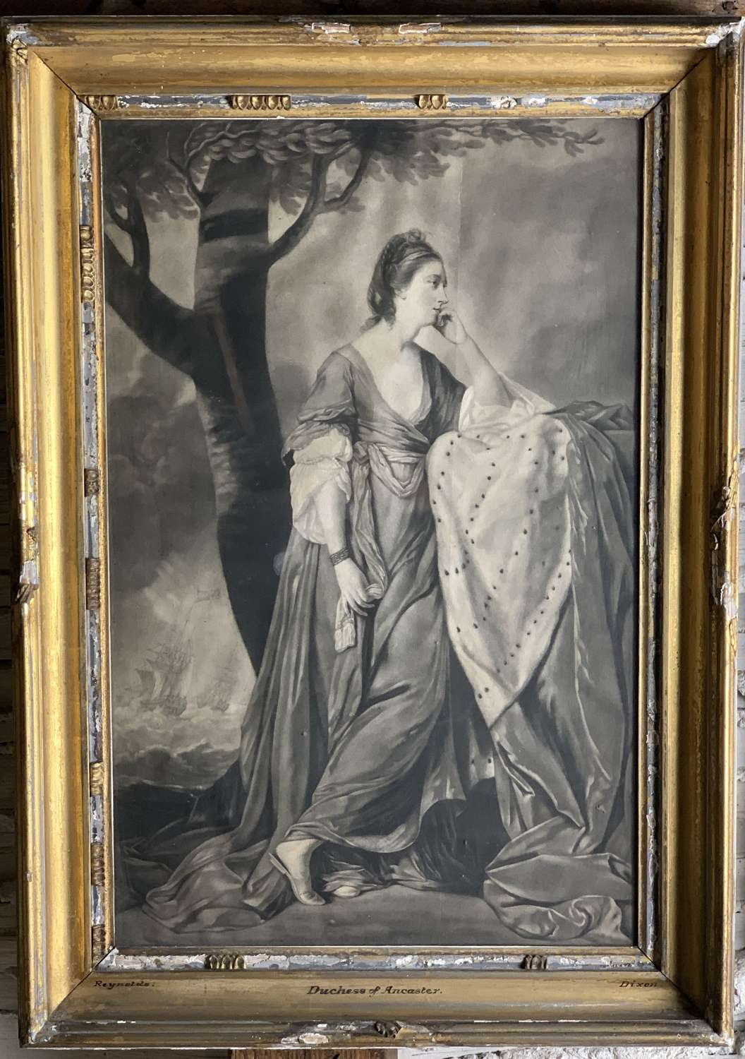 Mary Duchess of Ancaster Mezzotint after Joshua Reynolds