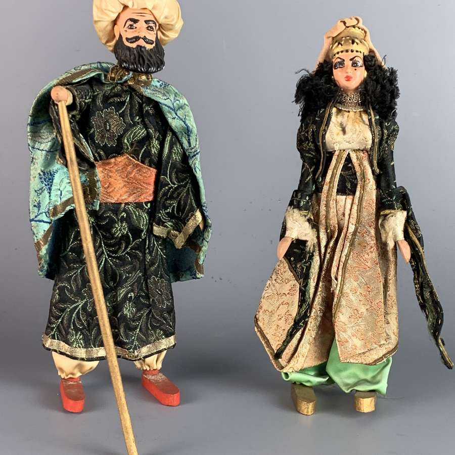Pair of Vintage Elmassian, Lebanese Costume Dolls