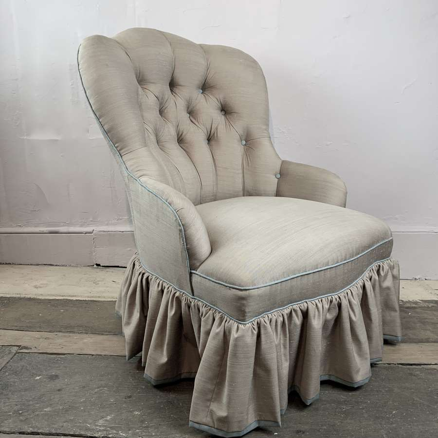 Small Victorian Button Back Occasional Chair