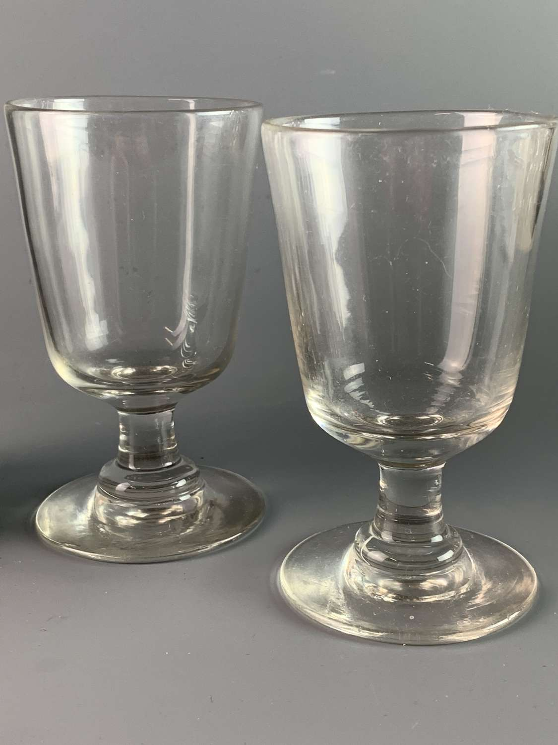 Pair of Victorian Glass Rummers