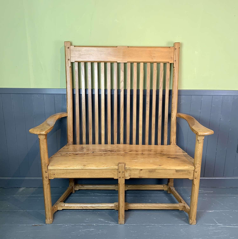 Robin Clarke Ash Windsor Settle in Arts & Crafts Style