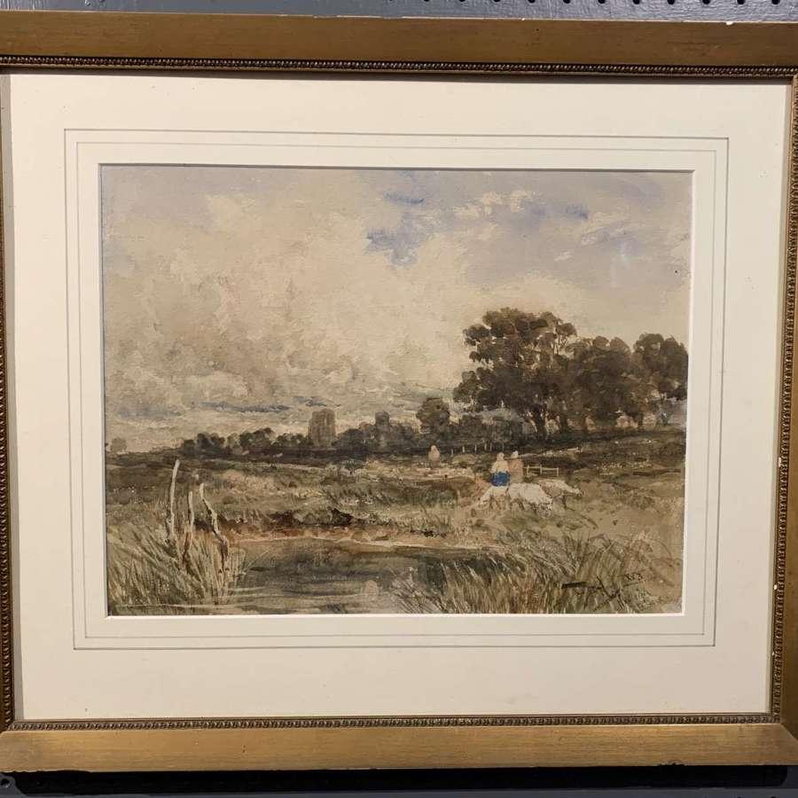 Thomas Bush Hardy, Watercolour of Hadleigh Castle, Essex
